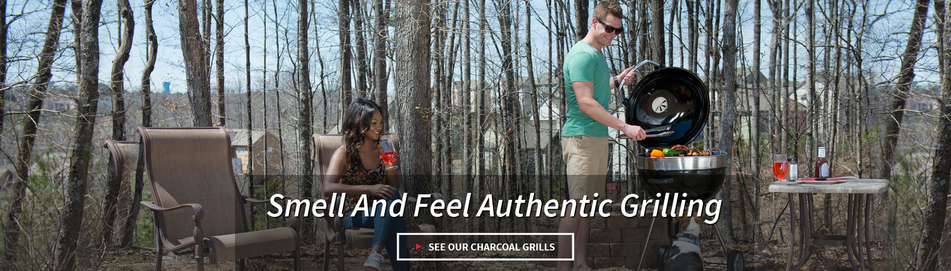 Smell and feel authentic grilling