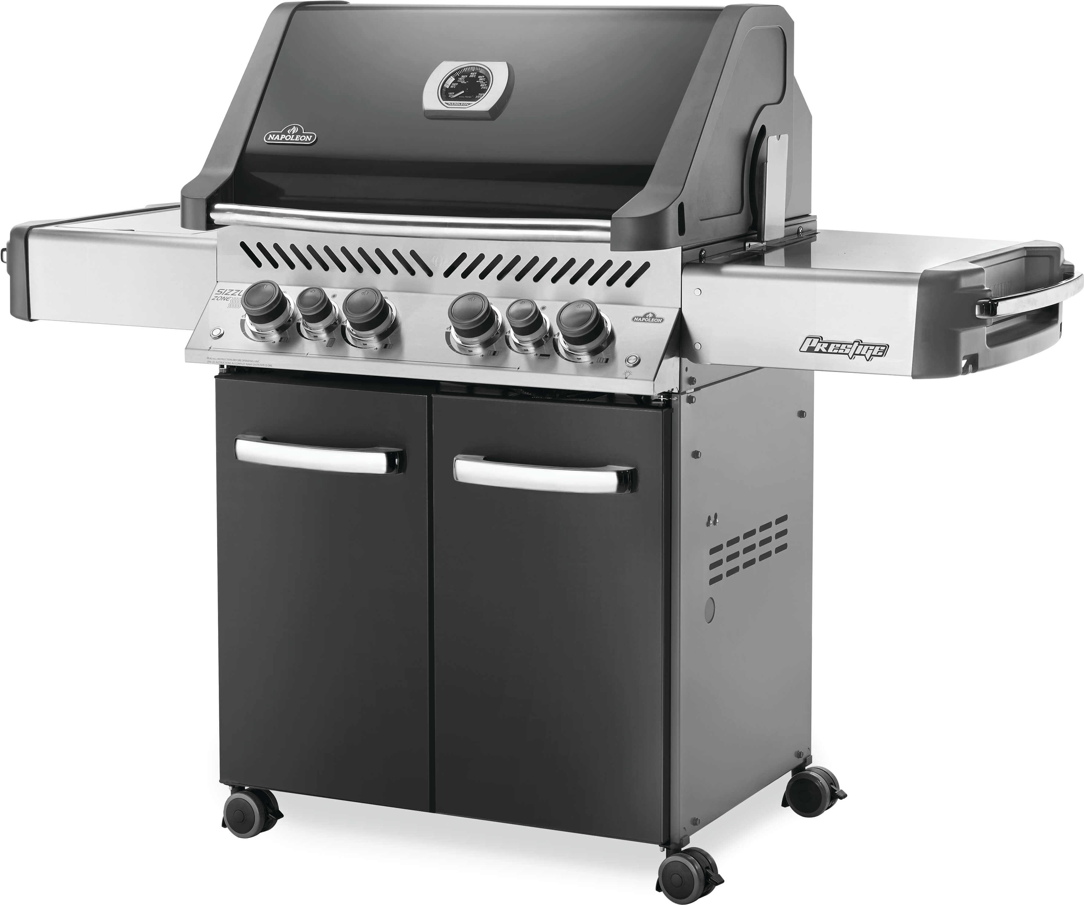 Prestige® 500 Propane Gas Grill with Infrared Side and Rear Burners, Grey