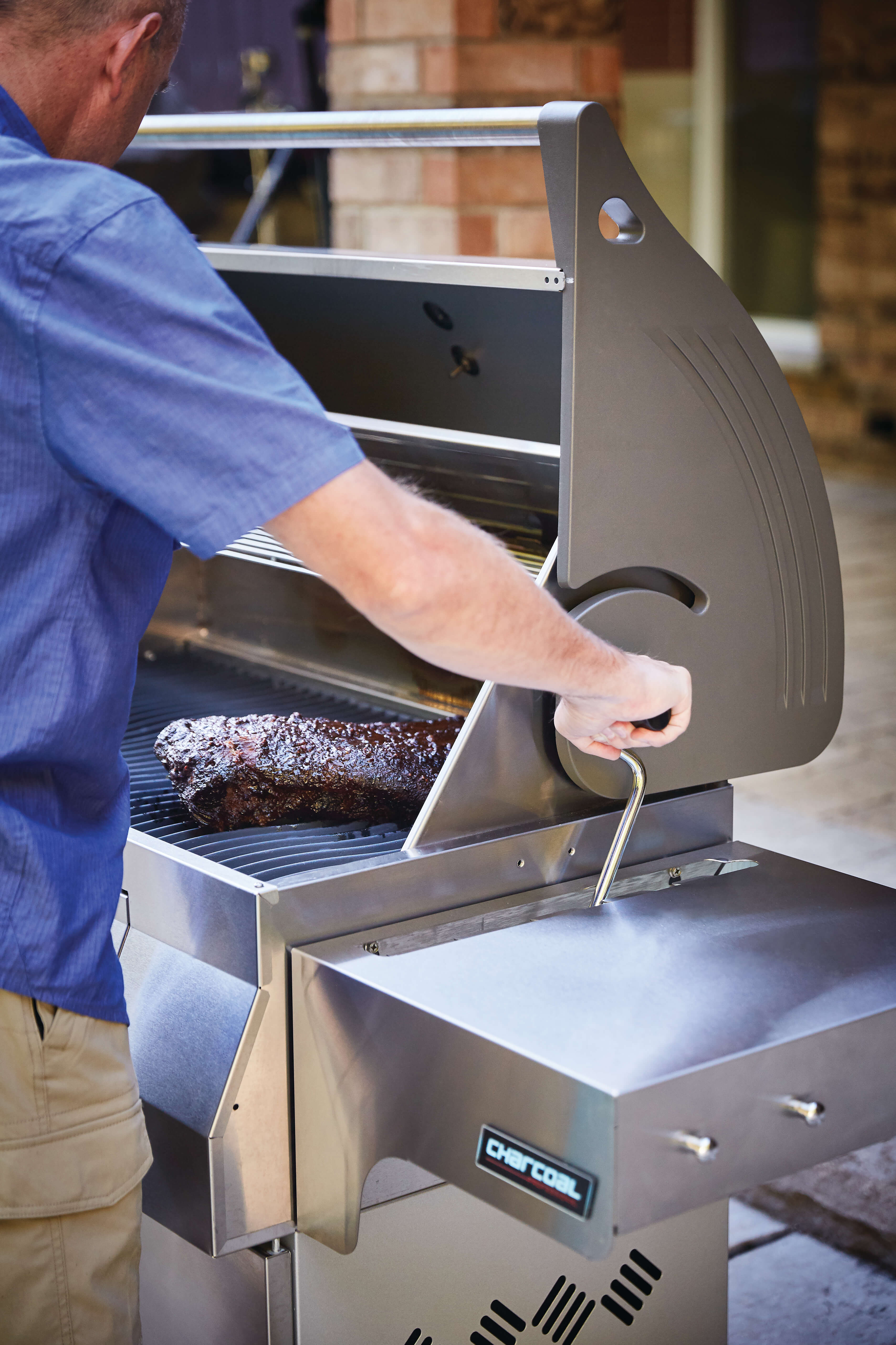 Charcoal Professional Grill, Stainless Steel