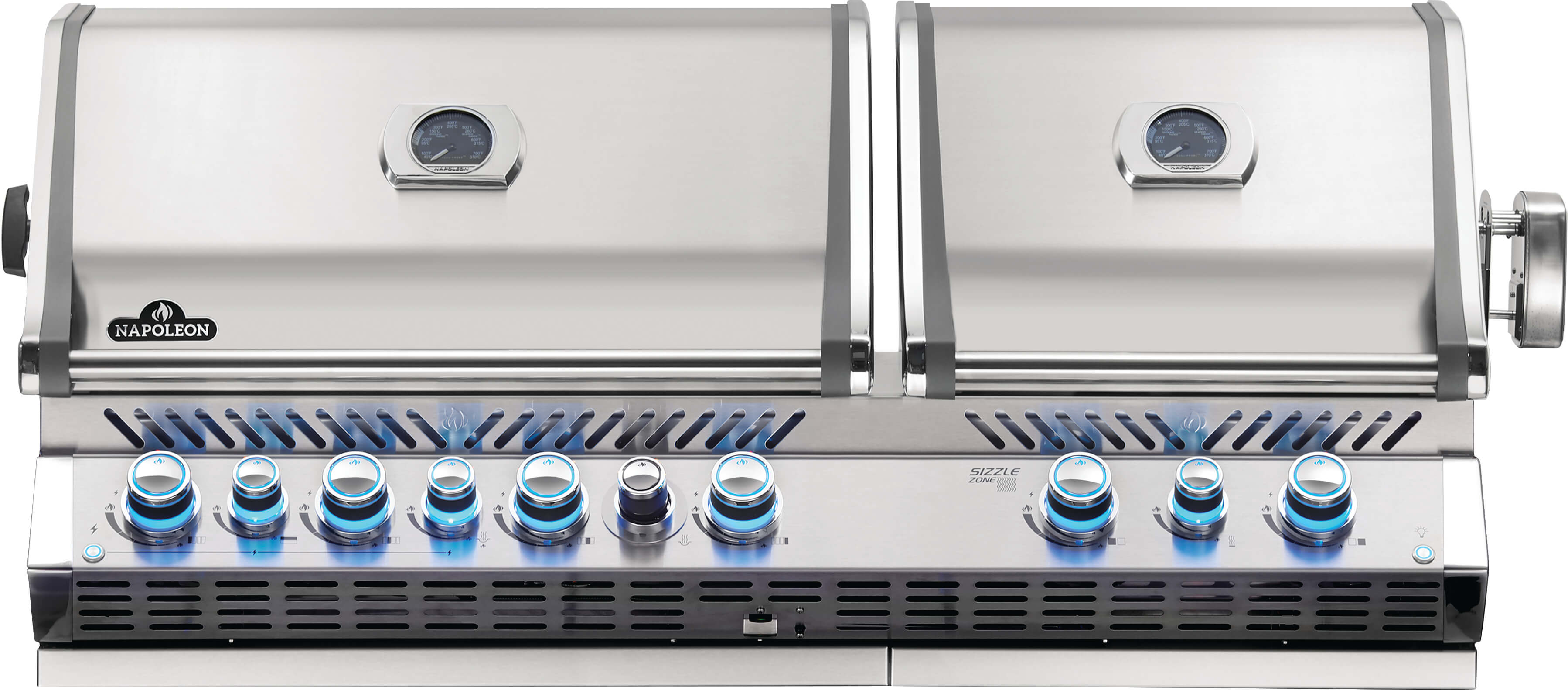 Built-in Prestige PRO™ 825 Natural Gas Grill Head with Infrared Bottom and Rear Burner, Stainless Steel