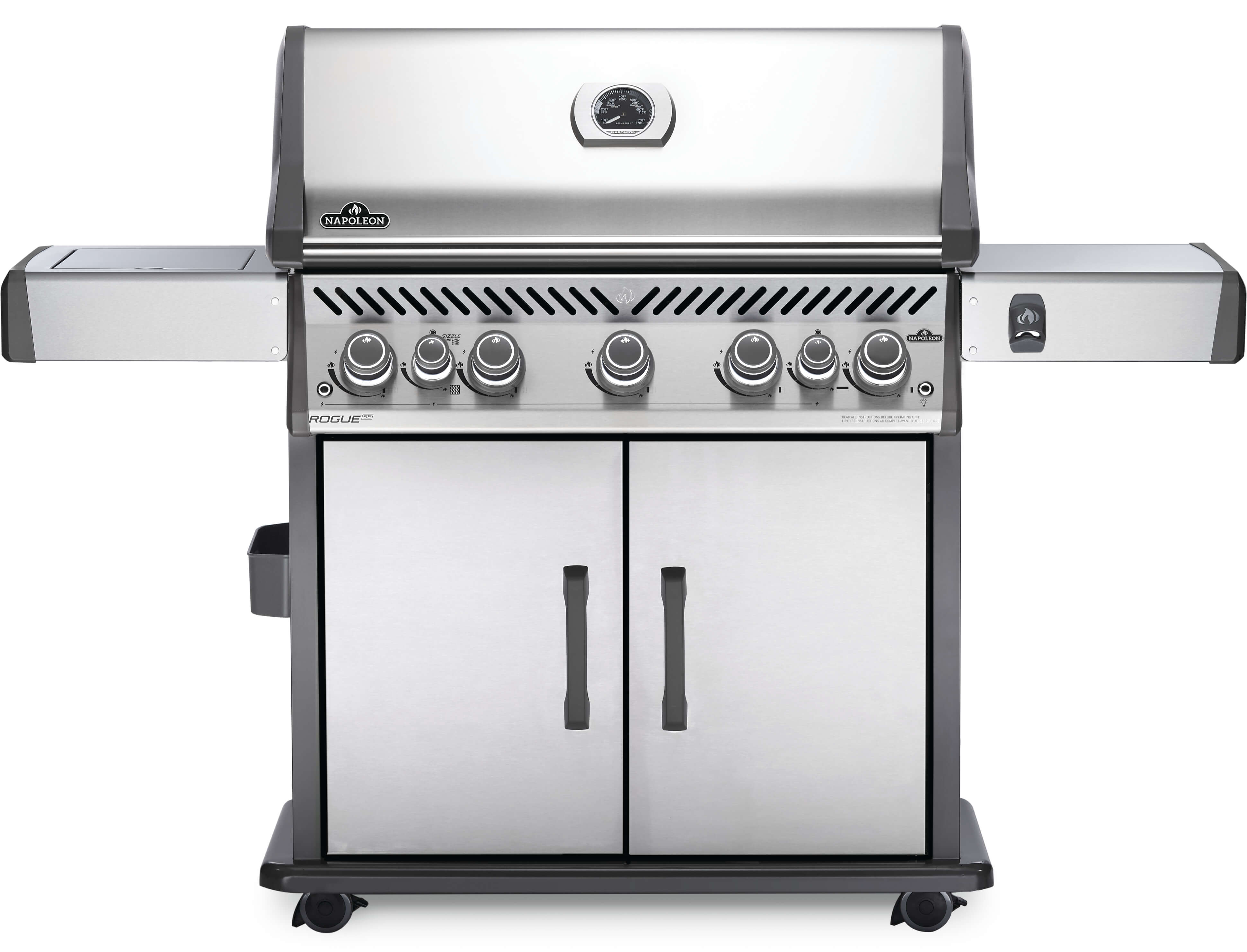 Rogue® SE 625 Natural Gas Grill with Infrared Rear and Side Burners, Stainless Steel