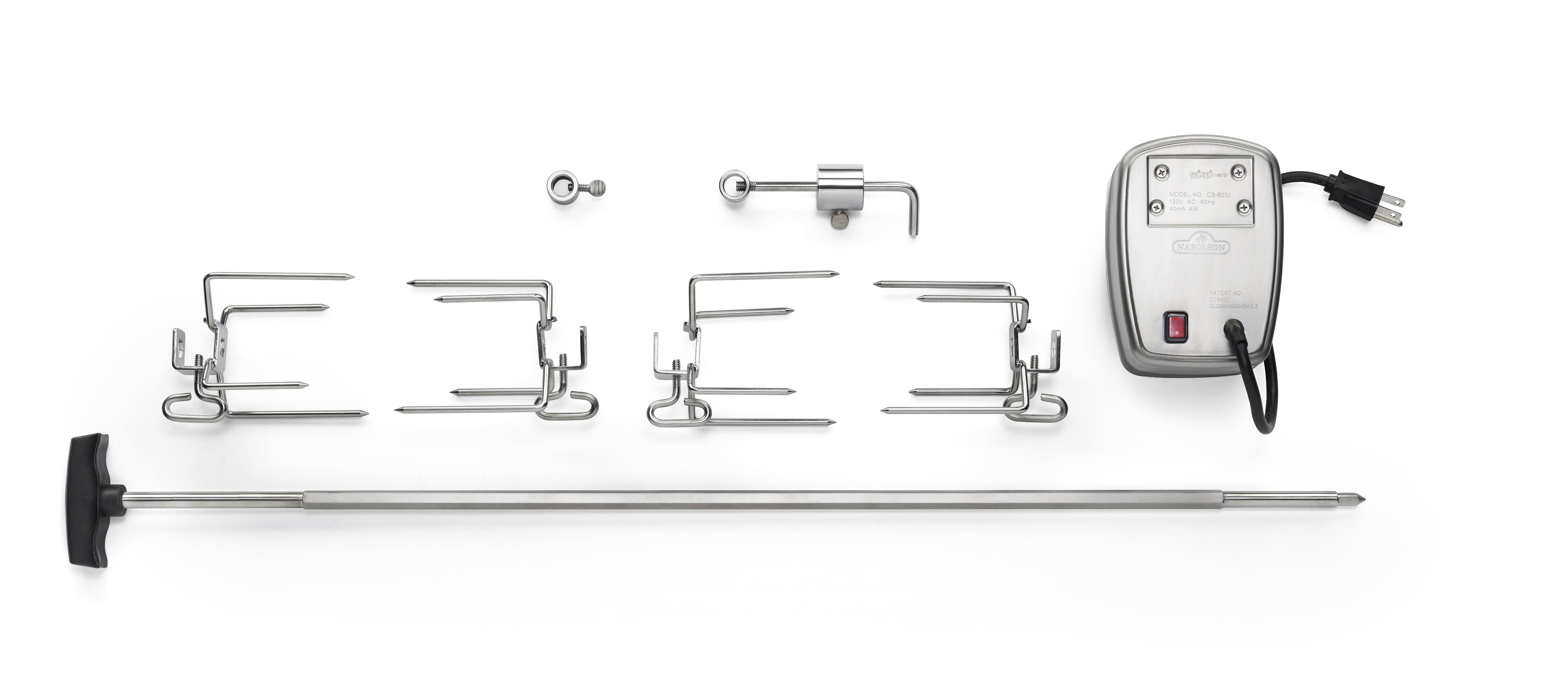 Commercial Grade Rotisserie Kit for Large Grills
