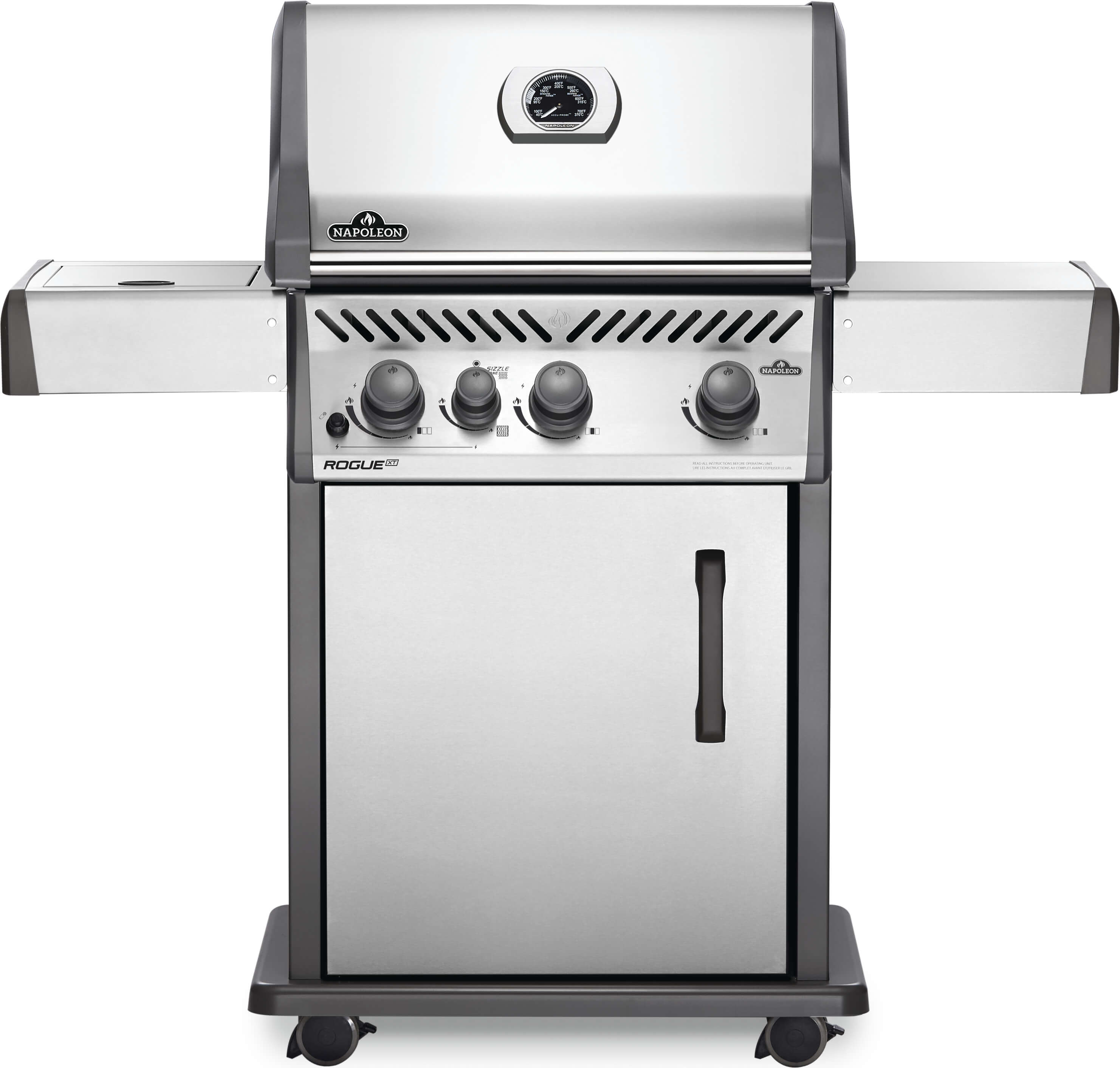 Rogue® XT 425 Propane Gas Grill with Infrared Side Burner, Stainless Steel