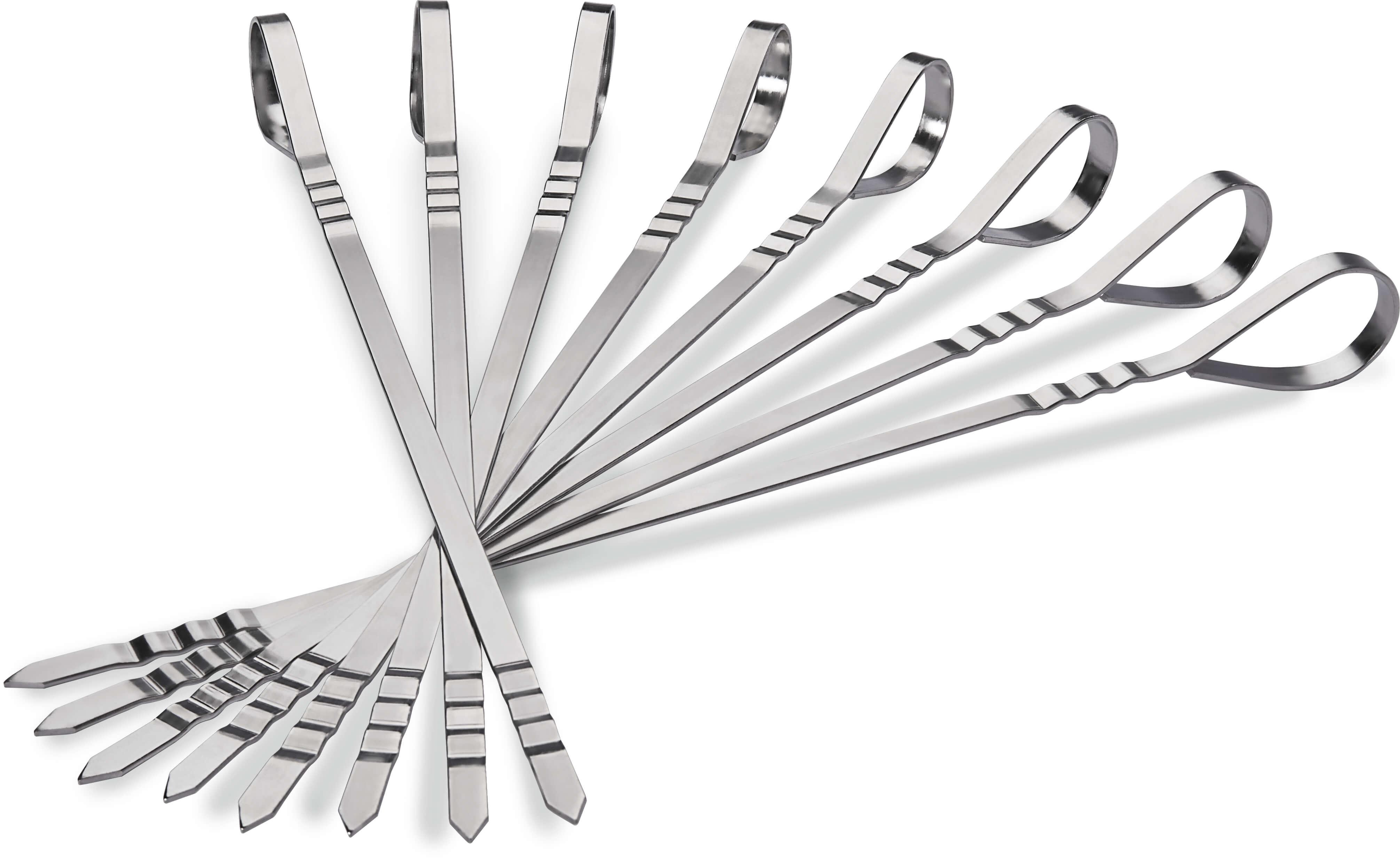 Eight Stainless Steel Multifunctional Skewers