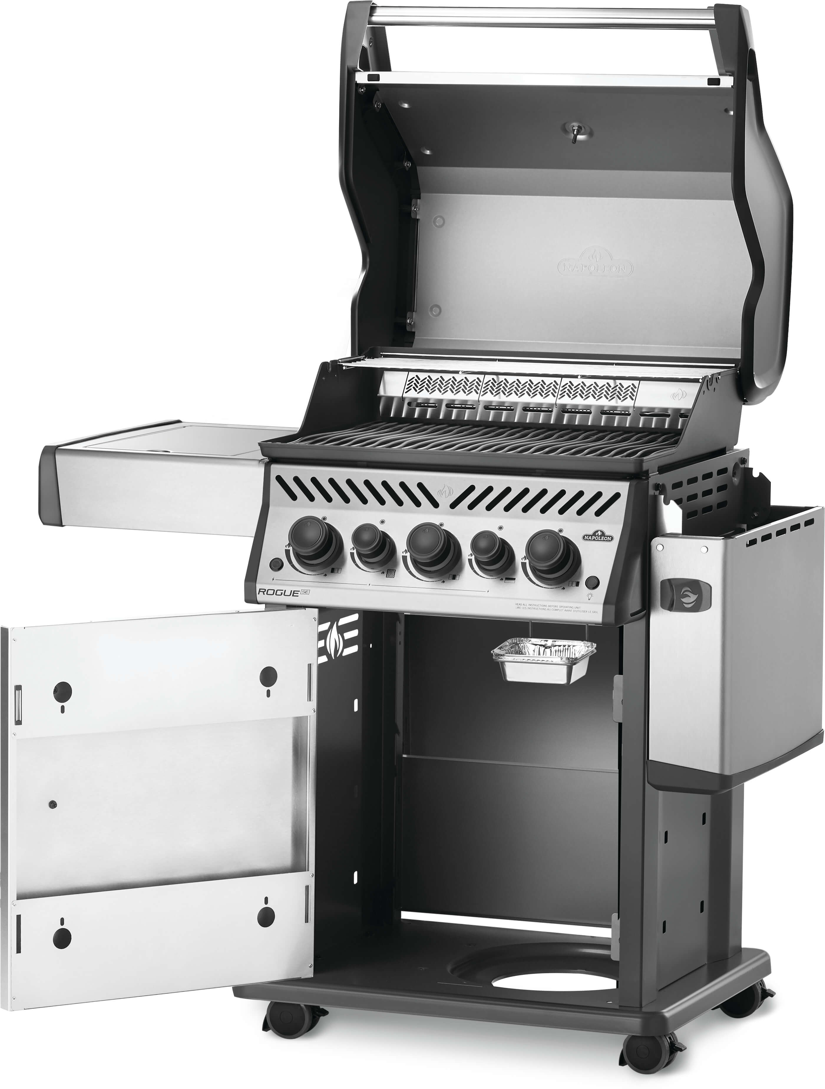 Rogue® SE 425 Natural Gas Grill with Infrared Rear and Side Burners, Stainless Steel