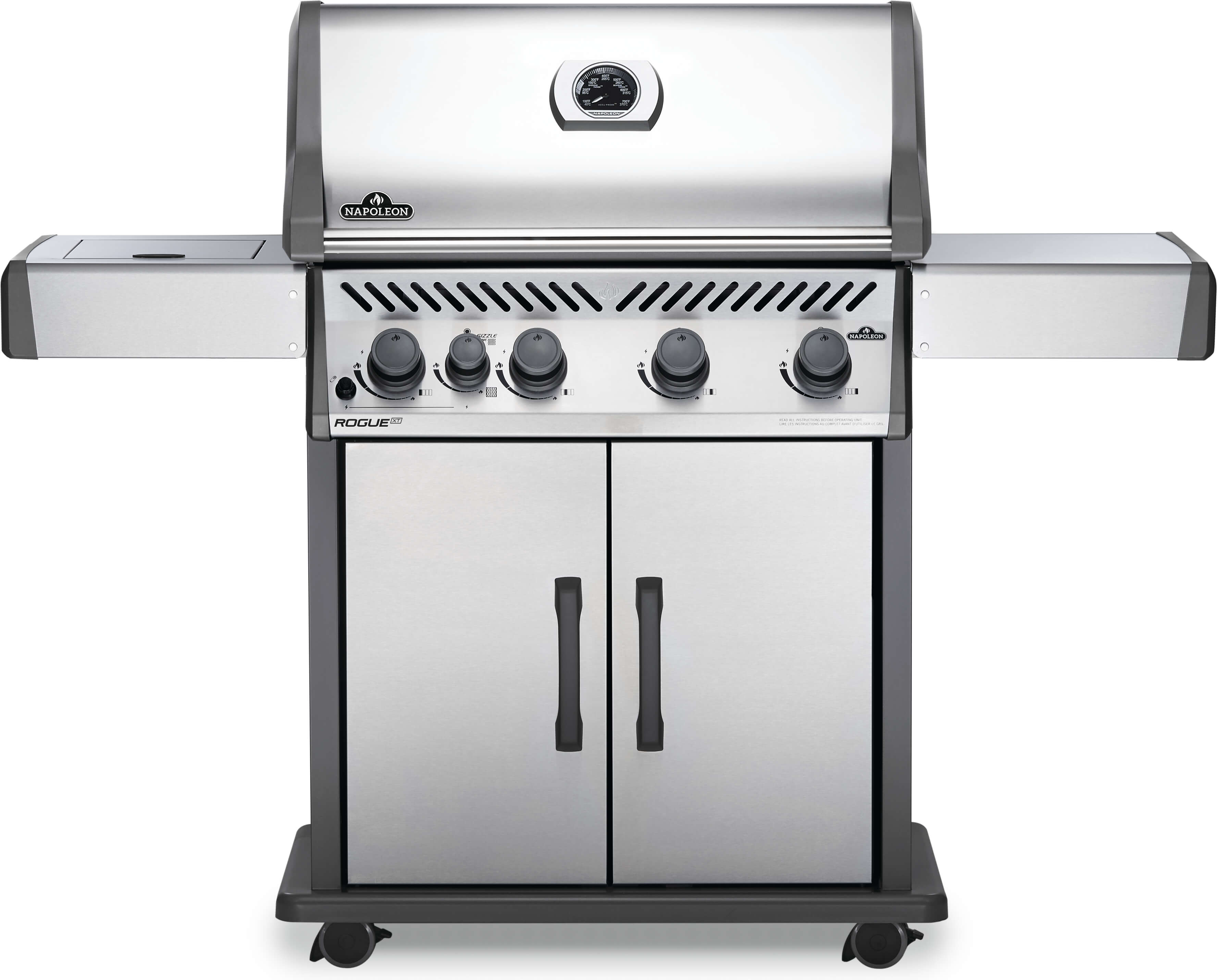Rogue® XT 525 Natural Gas Grill with Infrared Side Burner, Stainless Steel