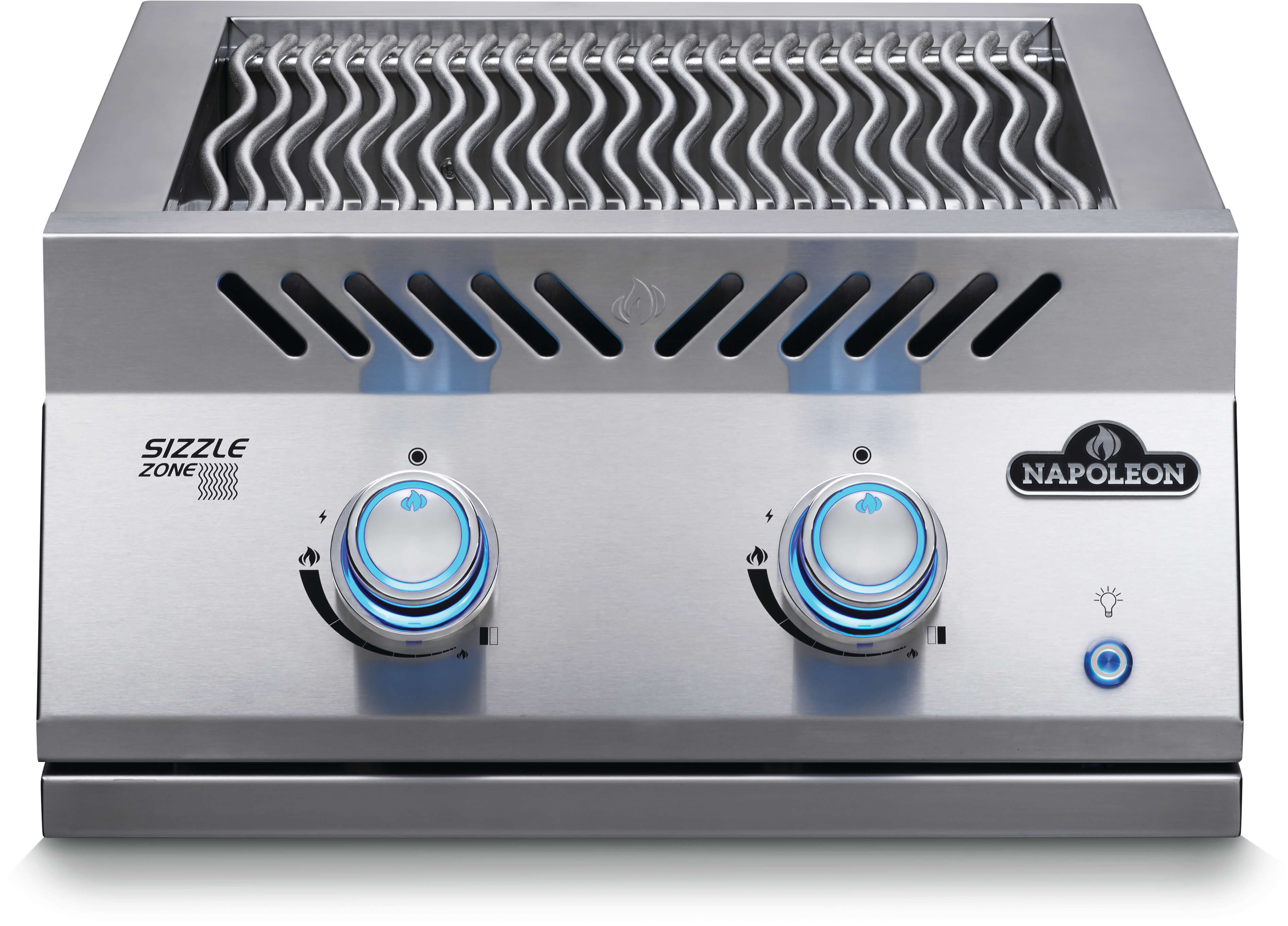 """Built-In 700 Series 18"""" Dual Infrared Burner Natural Gas, Stainless Steel"""