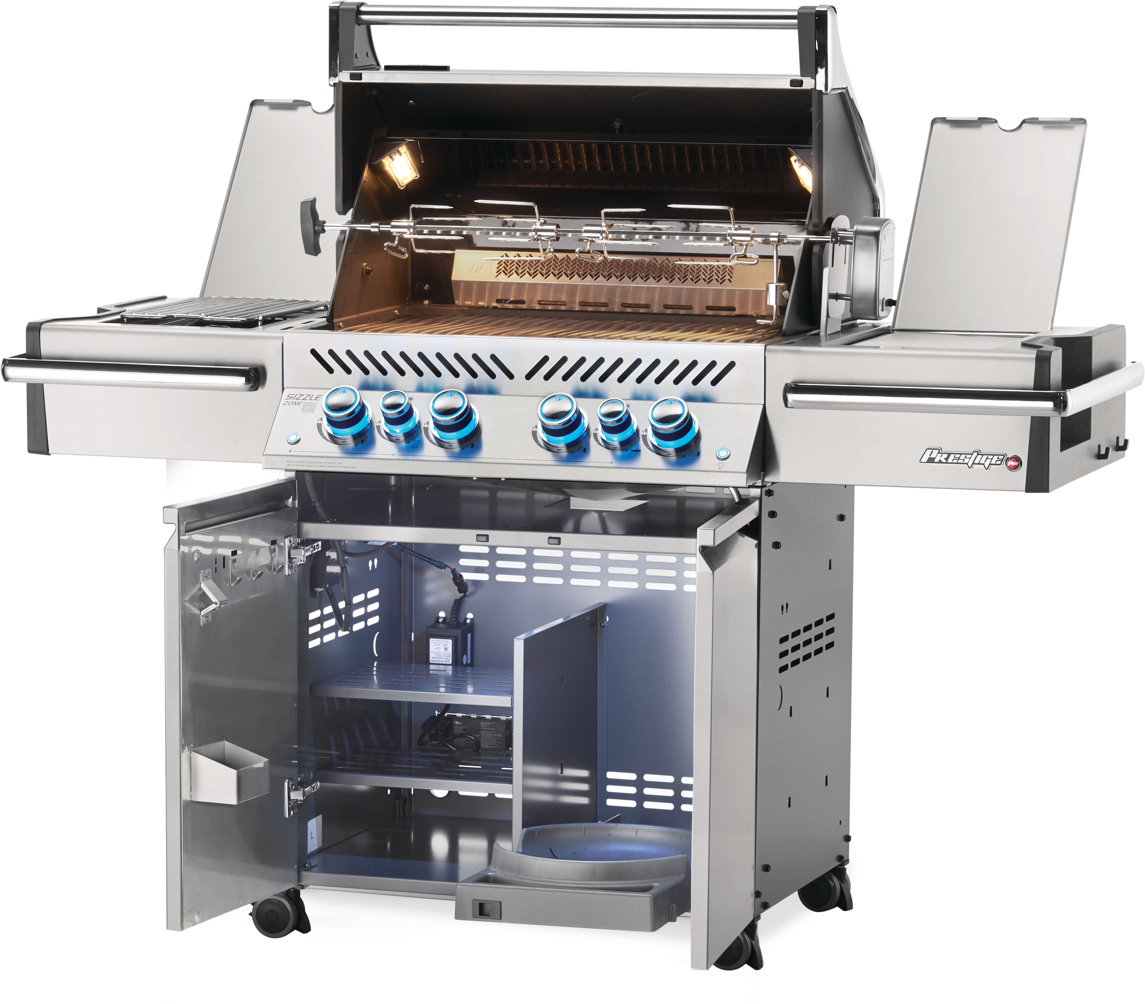 Prestige PRO™ 500 Natural Gas Grill with Infrared Rear and Side Burners, Stainless Steel