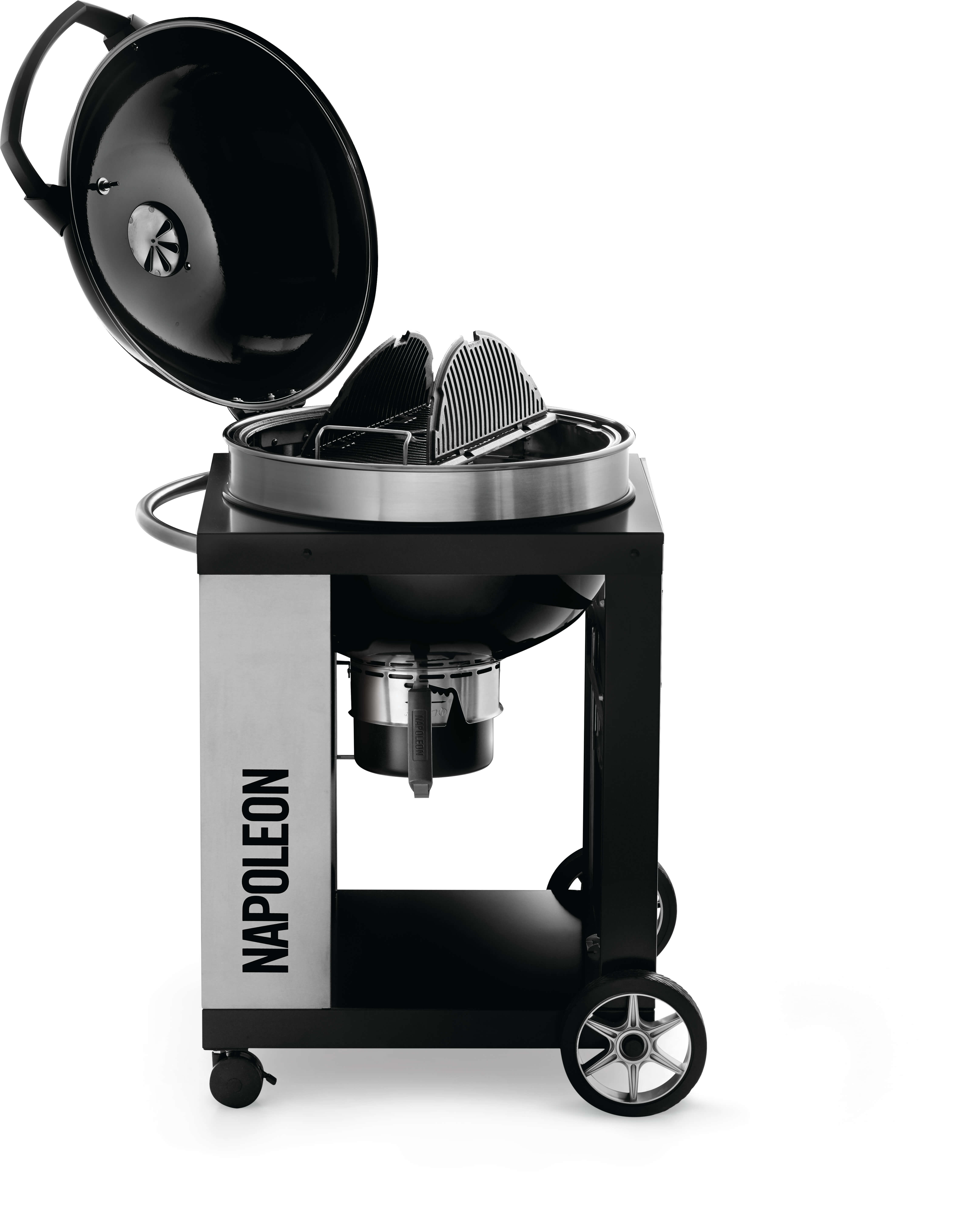 PRO CART Charcoal Kettle Grill, Black