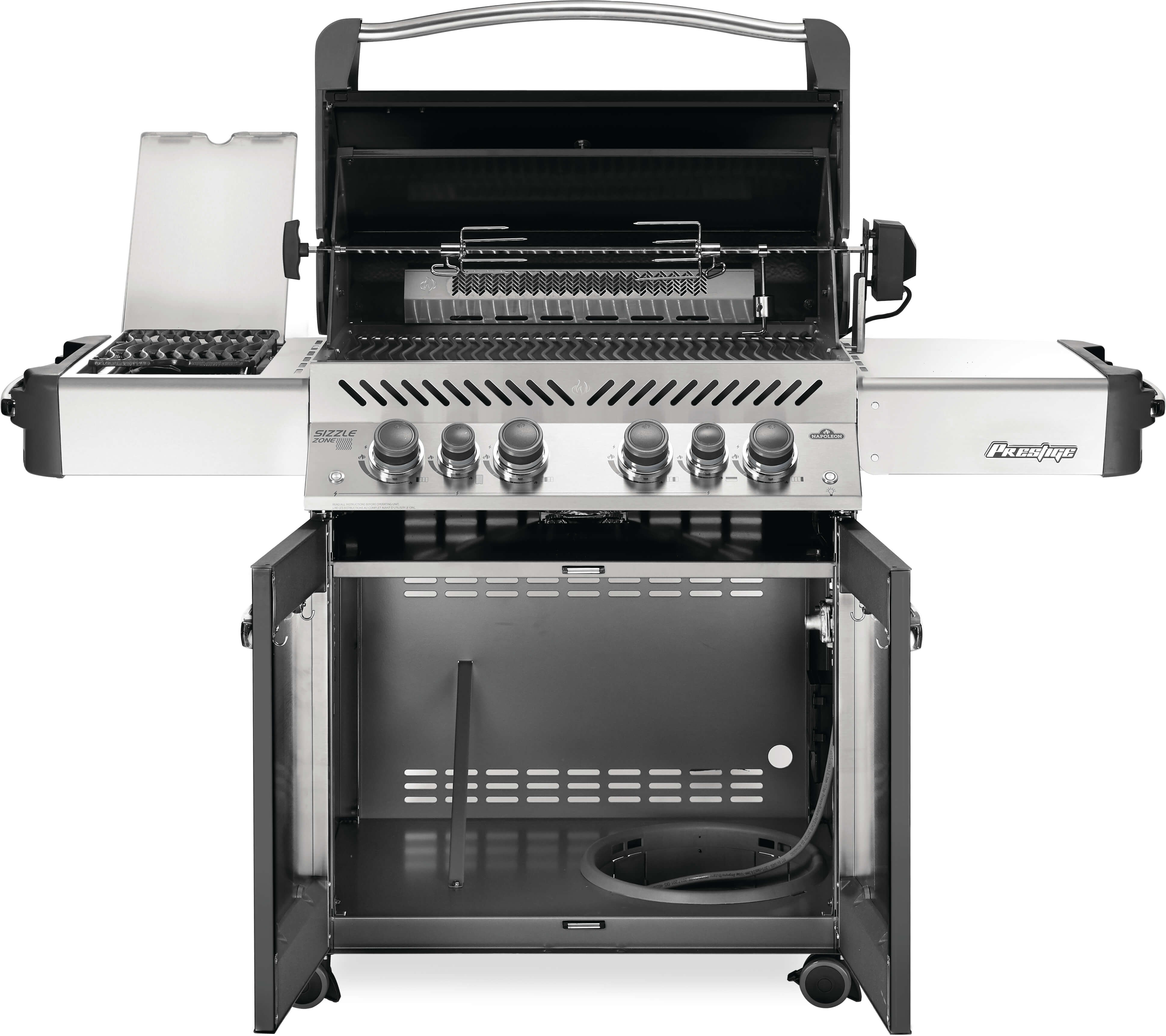 Prestige® 500 Natural Gas Grill with Infrared Side and Rear Burners, Grey